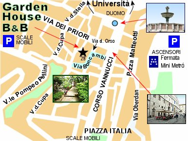 Firenze Cartina Centro Storico.Bed And Breakfast Garden House Perugia Where Is The B And B And How To Arrive